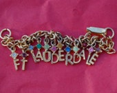 FT LAUDERDALE CHARM Bracelet Vintage Spring Break Florida Beach Fling