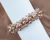 Pearl bracelet Vintage style bridal bracelet Beige bracelet Crystals bracelet Wedding bracelet summer fashion Rustic wedding bracelet