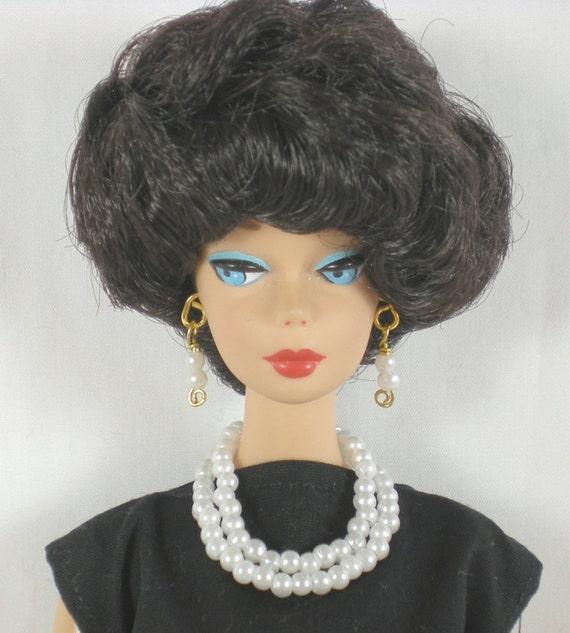 SALE Fashion Doll Jewelry Barbie, Silkstone, Royalty, LIV in White Pearl