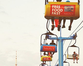Toronto, Carnival Photography, Sky Ride, CN Tower, Childrens Room, Colourful, Canada - Sky Ride  Fine Art Print