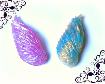 Custom Vegan Soaps Hand Painted Angel Raven Bird Wing Any Color/s
