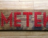 Modern String Art Wooden Name Tablet - 6 letters - Market Font