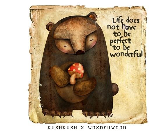 Mushroom Bear  ART PRINT