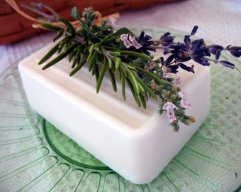Patchouli and Lavender Butter Bar Soap | Soy & Palm Free Soap | Essential Oil Soap | Gift Wrapped | Large Bath Soap | Mens Scented Soap