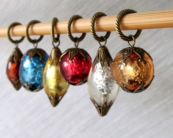 LAST SETS - Arabian Nights - Six Handmade Stitch Markers - Fits Up To 8.0 mm (11 US) - Limited Edition