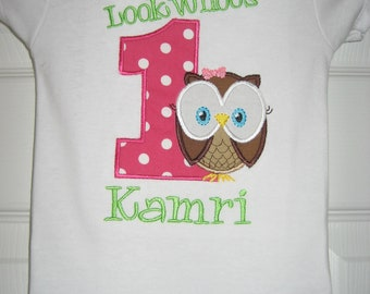 "Boutique owl ""Look Whoos 1"" bodysuit"
