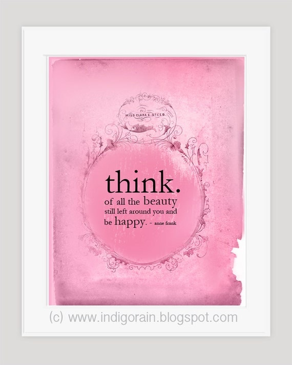 Items similar to pink typography 8x10 inspirational for Inspirational wall art