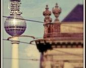 Berlin, Germany Photograph. TV Tower / Fernsehturm / Alexanderplatz. 8x12