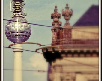 Berlin, Germany Photograph. TV Tower / Fernsehturm / Alexanderplatz. 8x12