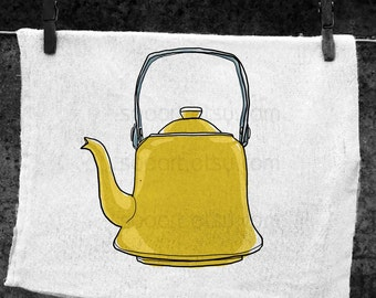 Kettle vintage  -Original Illustrate Drawing  A4 Print transfer on Pillows, t-shirts, scrapbook, lampshades  ETC.v