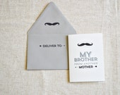 My Brother From Another Mother Flat Printed Greeting Card