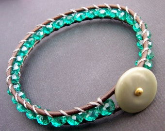 Sea Green KARMA Bracelet in Crystal Quartz