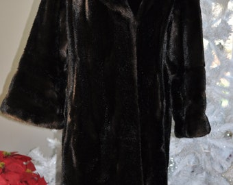 Vintage Mouton Warm Winter Coat -Priscilla Modes England...SALE...was 175.00