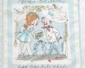 Vintage Handkerchief German Advertising 3 Glocken Eier Nudeln 1960s
