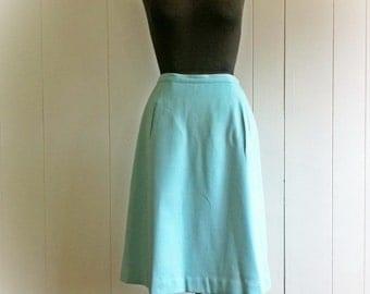 Vintage Aqua Sears Skirt