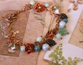 Fairytale Charm Bracelet, ROSES and SNOWDROPS, FREE Aust Shipping
