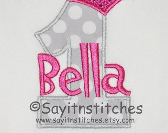 Personalized Birthday shirt or bodysuit for girl or boy. Great for a first birthday party or a princess or prince birthday party
