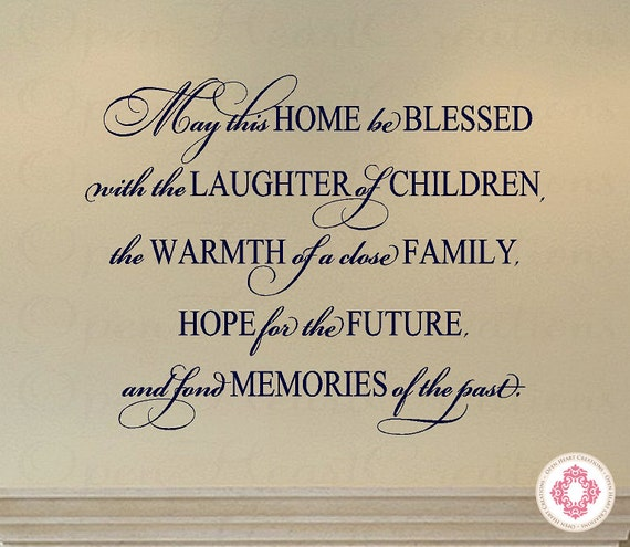 Blessed with Family Wall Decal Quote by OpenHeartCreations
