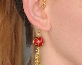 Iron Man-Inspired Avengers-Themed Ear Cuff