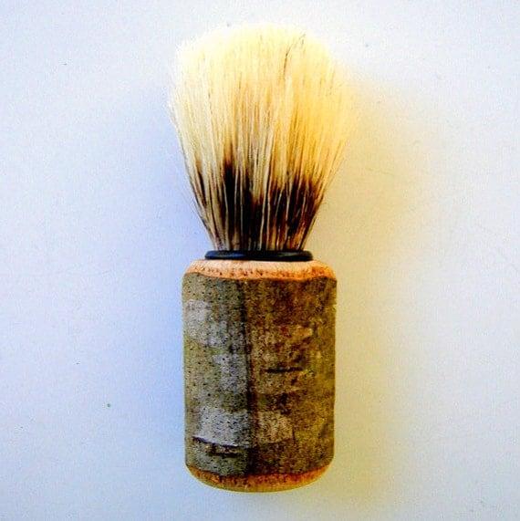 Rustic Wood Handle Shave Brush / Mens Shaving Brush / Groomsmen Gifts Black Friday Etsy