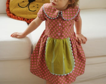 INSTANT DOWNLOAD Playdate Dress, PDF Sewing Pattern, sizes 6m, 12-18m, 2t, 3t, 4t, 5