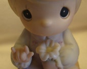 "Vintage NIB Enesco Precious Moments ""A Universal Love"" Porcelain Bisque Figurine 527173 - 1991 - In Original Box"