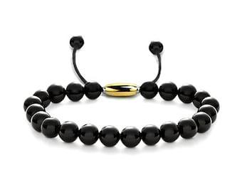 Modern Obsidian Bracelet Layering Style Bead 6mm, 7mm, 8mm