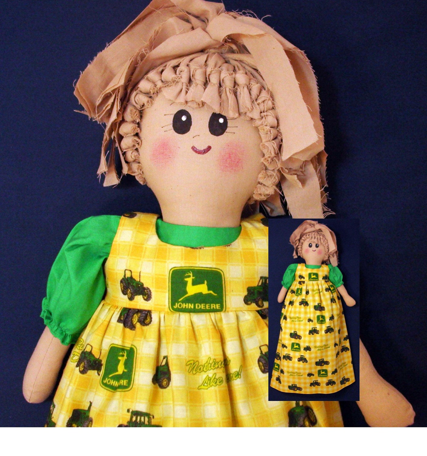 plastic bag holder doll john deere tractors grocery bag. Black Bedroom Furniture Sets. Home Design Ideas