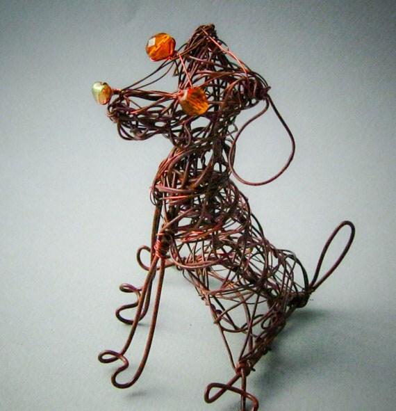 Chocolate Labrador Retriever, Dog Art Decor, Cute Dog, Whimsical Dog Art, Pet Dog Keepsake, Wire Sculpture