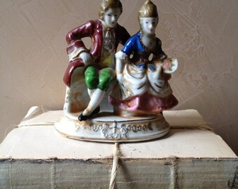 1930s Colonial Couple Figurine 1930s