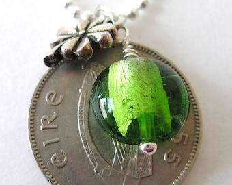 1955 Birth Year Irish Coin Charm Necklace-1955 Scilling