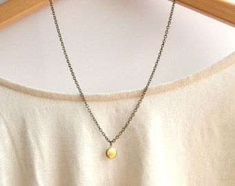 Tiny Round Brass Locket Necklace // Bridesmaid Locket // Bridesmaid Gifts // Bridesmaid Necklaces