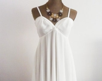 Milky Way / Strappy Dress / Wedding Party / Tea Party / Garden Party / White Dress