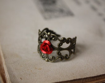 Rose Ring - Fairy Tale Jewelry - Flower Ring