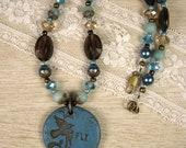 Soaring Aqua Necklace - A...