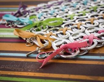 SET of FIVE Spring Rainbow Pop Top Bracelets