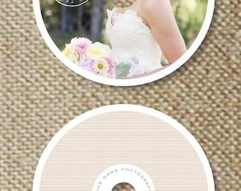 Wedding Photographer Templates - Premade DVD Design Template for Photographers (digital Photoshop files) - m0036