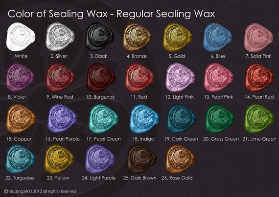 10 Regular Sealing Wax / Glue Gun Wax Sticks Set - Over 20 Colors to choose