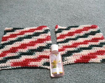 Crocheted Bath and Shower Scrubber Cloth set of 2