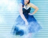Plus Size Tulle Skirt Black Midi / Knee Length XL XXL Featured in the Etsy Finds Newsletter!