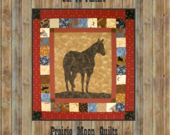 Out To Pasture Horse Silhouette Wall Quilt Pattern