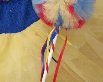 Snow White Wand- Snow White Party- Princess wand- Tulle wand- Princess party favor-Snow White birthday- Snow White Party Favor
