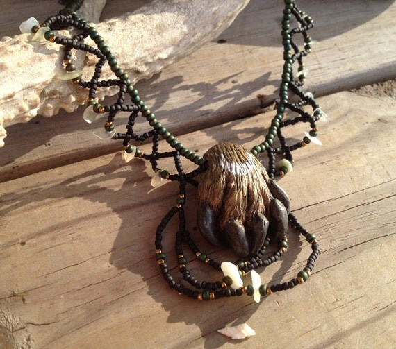 West of the Moon Fantasy Sculpted Necklace & Bracelet Jewelry Set