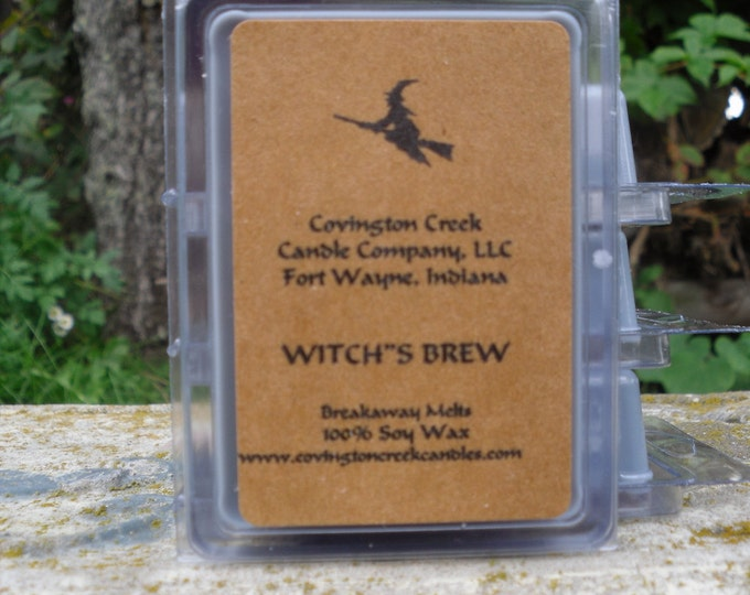 Featured listing image: Halloween Witch's Brew Pure Soy Breakaway Melt from Covington Creek Candle Company