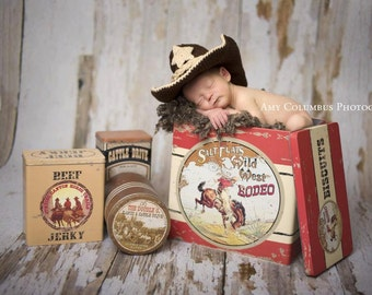 Country Photo Props - Cowboy Baby Outfit - Baby Cowboy Boots - Western Photos - Baby Cowboy Booties - Cowboy Baby Shower - Cowboy Toddler