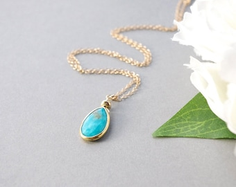 Turquoise Necklace, Birthstone Necklace, Turquoise jewelry, December Birthstone, Birthstone Jewelry, Pendant Necklace, Turquoise Gemstone