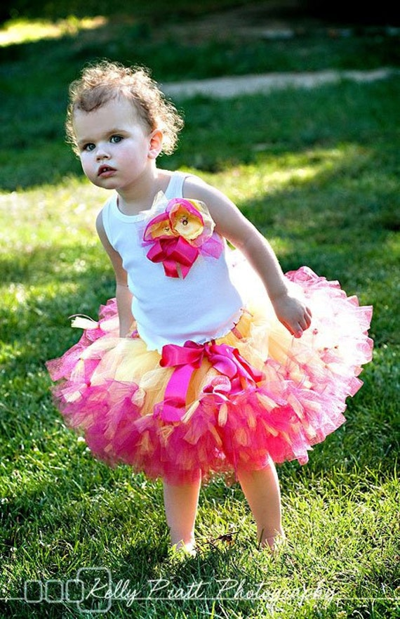 Sweet Strawberrie Lemonade Girls Tutu Dress