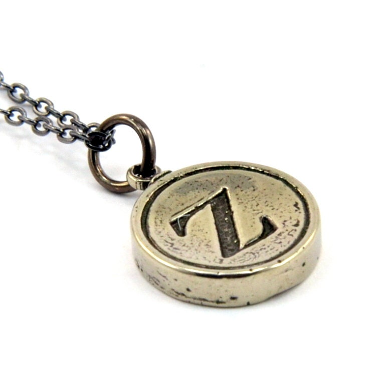 letter z typewriter key pendant necklace charm other letters