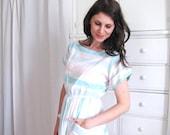 Striped Dress / 80's Shirtdress / Pastel Dress