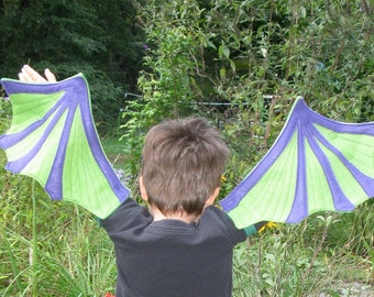 Gorgeous Green and Purple Dragon Wings for Toddlers & Preschoolers
